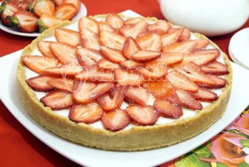 Клубничный тарт без выпечки - рецепт