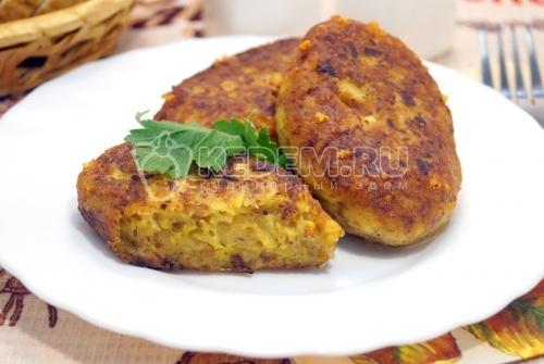 Котлетки из кабачков с сыром - рецепт