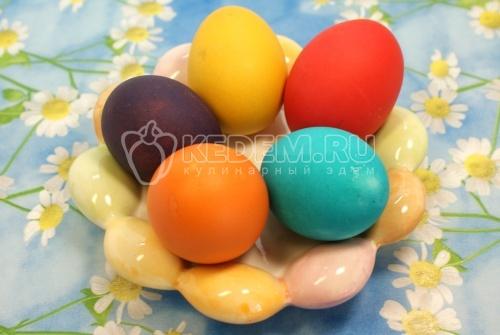 Крашенные пасхальные яйца  - рецепт