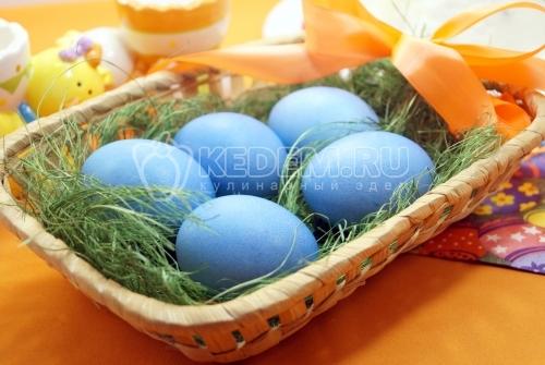 Крашенные яйца Небесные