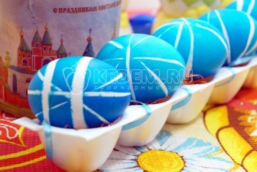 Крашеные яйца Лазурные