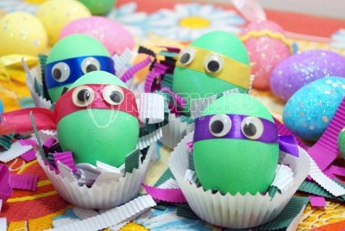 Крашеные яйца Ниндзя