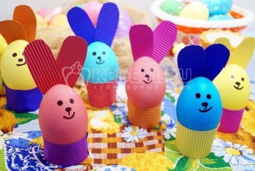 Крашеные яйца Пасхальные кролики