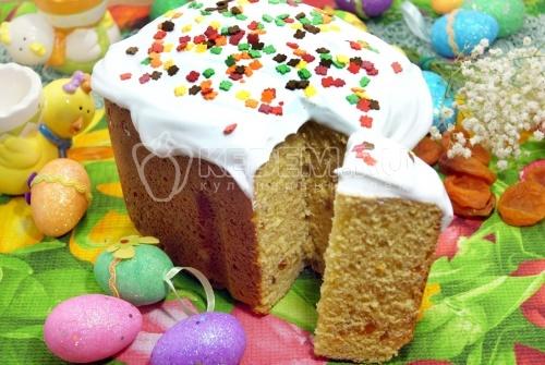 Кулич в хлебопечке  - рецепт