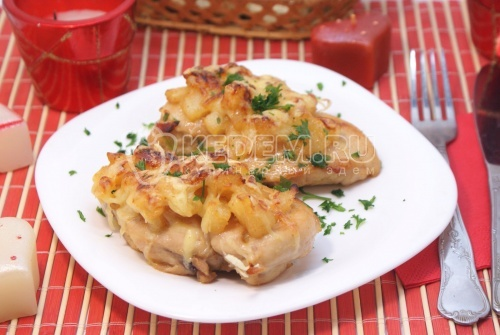 Курица под ананасами «Страсть Амура»  - рецепт