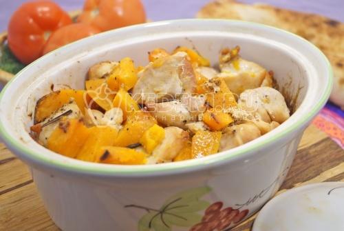 Курица с тыквой - рецепт