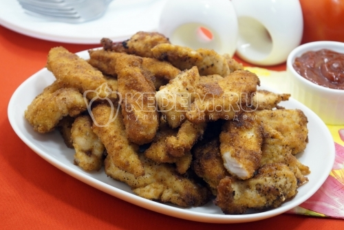 Куриное филе в панировочных сухарях