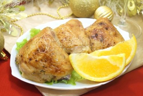 Куриные бедра в духовке с апельсином