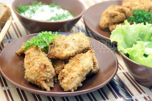 Куриные хрустящие ломтики - рецепт