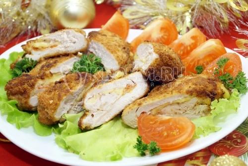 Куриные кармашки с сыром - рецепт
