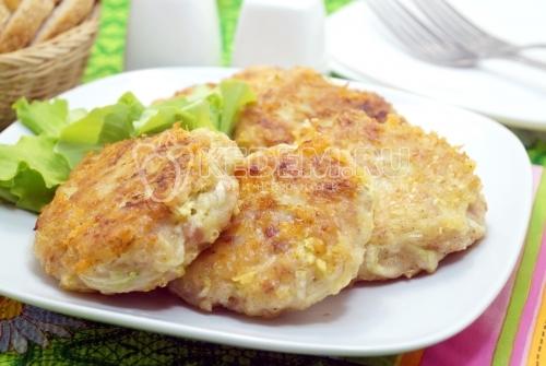 Куриные котлеты с кабачком - рецепт