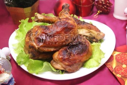 Куриные ножки в горчично-медовой глазури