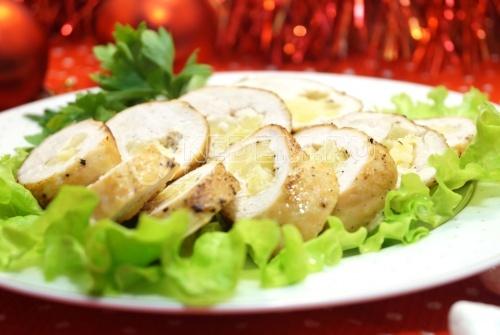 Куриные рулетики «Новогоднее настроение» - рецепт