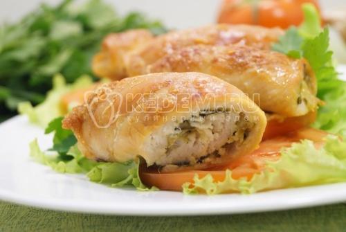 Куриные рулетики с сыром и зеленью