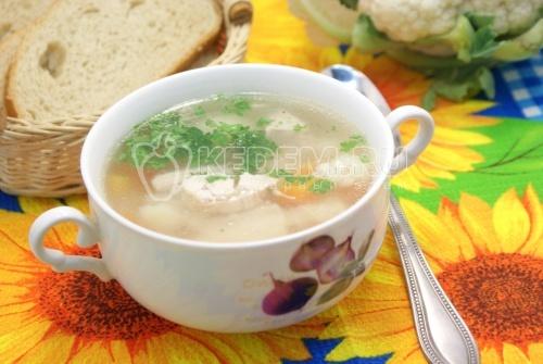 Куриный суп с цветной капустой - рецепт