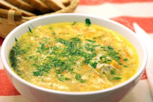 Куриный суп с яйцом - рецепт