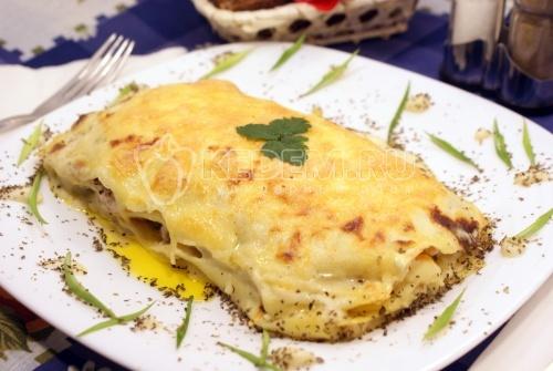 Лазанья с рыбой - рецепт