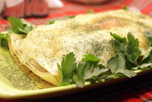 Лазанья с минтаем - рецепт