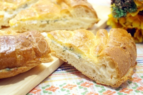 Лепешка с сыром и зеленью - рецепт