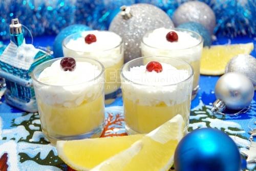 Лимонный десерт Снежная королева