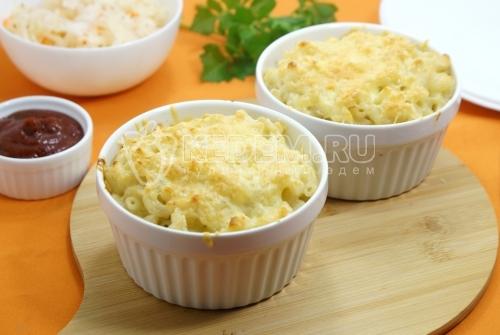 Макароны с плавленым сыром в духовке - рецепт