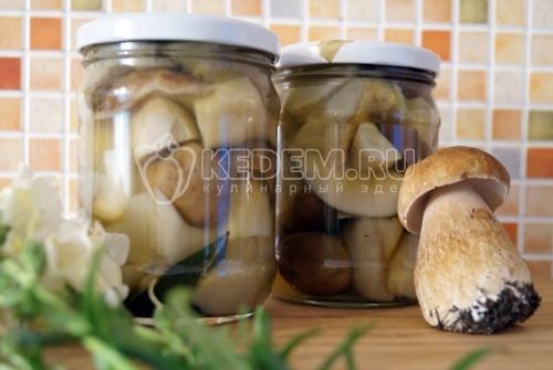Маринованные белые грибы «Закусочные» - рецепт
