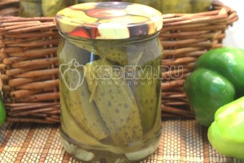 Маринованные огурцы с болгарским перцем - рецепт