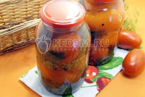 Маринованные помидоры с петрушкой на зиму
