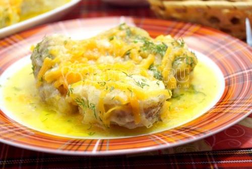 Минтай тушеный с овощами - рецепт