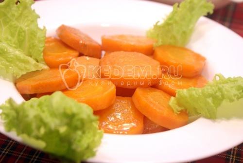 Морковь с мёдом и имбирём