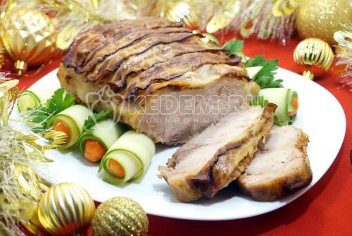 Мясо с беконом Новогодний романс