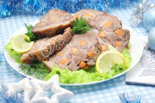 Новогоднее мясо с морковью