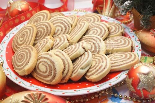 Новогоднее печенье Спиральки