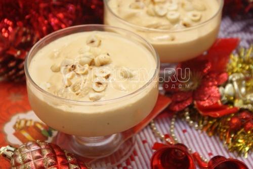 Новогодний десерт-мороженое Крем-брюле