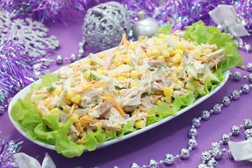 Новогодний салат «Чародей» - рецепт