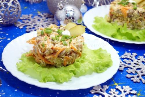 Новогодний салат Наслаждение