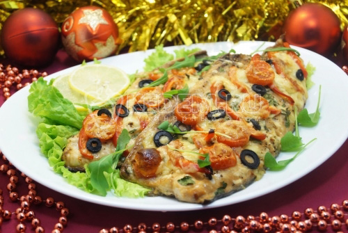 Новогодняя горбуша запеченная в духовке - рецепт