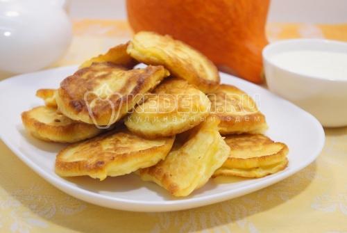 Оладьи с тыквой «Вкусные» - рецепт
