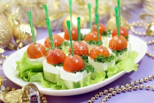 Овощное канапе с сыром фета
