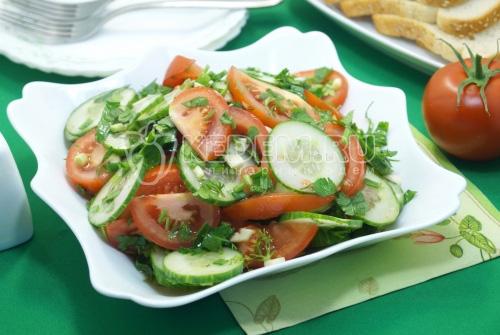 Овощной салат «Дачный» - рецепт