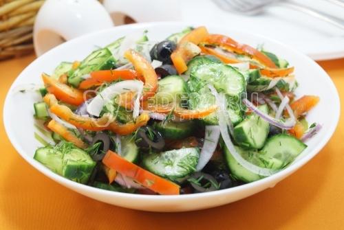 Овощной салат Постный с маслом