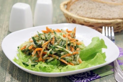 Овощной салат с оливковым маслом