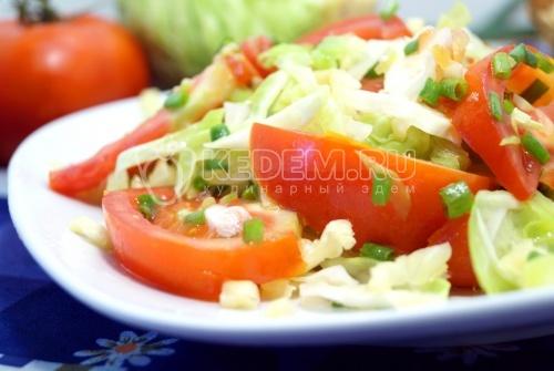 Овощной салат с ревенем Рэнди