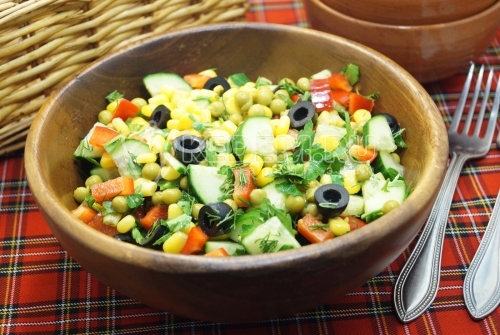 Овощной салат в пост