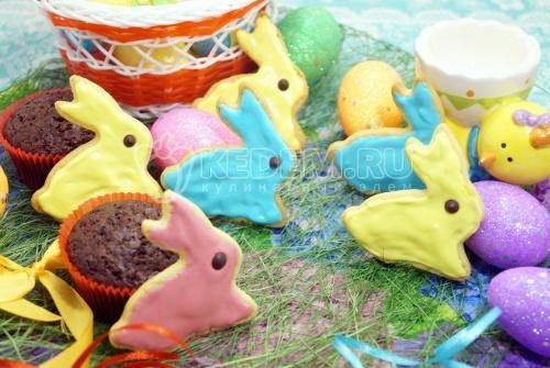 Пасхальное печенье Пасхальные кролики