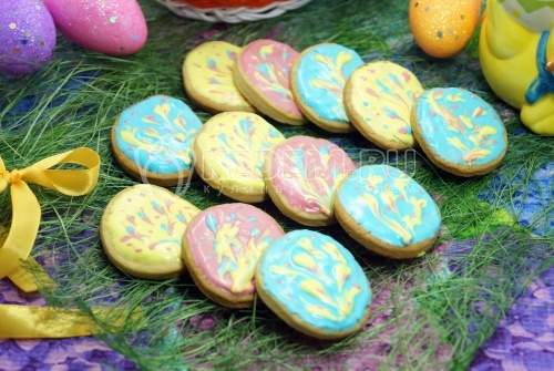 Пасхальное печенье Яичко