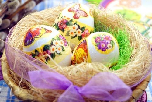 Пасхальные яйца «Бабочки-цветочки»