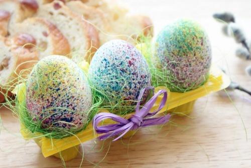 Пасхальные яйца «Фейерверк» - рецепт