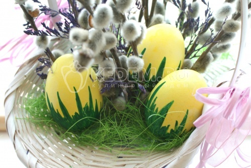 Пасхальные яйца «Травянчики» - рецепт