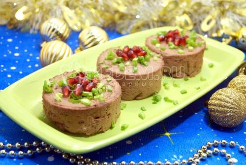 Паштет из печени «Новогодний» - рецепт